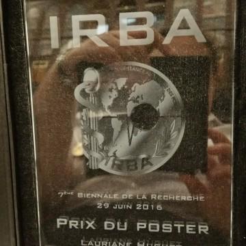 Prix Poster lors de la biennale de l'IRBA